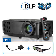 1080P DLP 3D Projector for Home Theater Presentation Meeting Backyard Video VGA