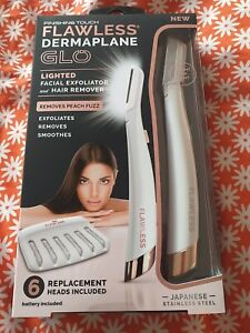 Finishing Touch Flawless Dermaplane Lighted Facial Exfoliator And Hair Remover