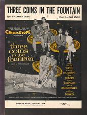 Three Coins In The Fountain 1954 Movie Vintage Sheet Music Q26