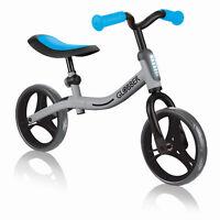 Globber GO BIKE Adjustable Balance Training Bike for Toddlers, Silver & Sky Blue