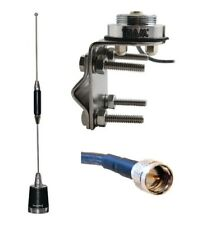 Antenna 5//8 over 1//2 NMO UHF 430-450 5 dBd Mobile Radio Icom Vertex Maxon 1177B