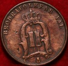 1879 Sweden 2 Ore Foreign Coin