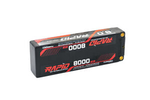 RC Turnigy Rapid 8000mAh 2S2P 140C Hardcase Lipo Battery Pack (ROAR Approved)
