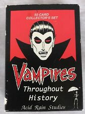 Vampires Throughout History 50 Card Collector's Set by Acid Rain Studios 1992