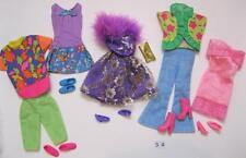 5 COMPLETE Barbie Fashion Doll Basics Outfit Ensemble with Matching Shoes Lot 34