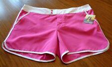 NEW Joe Boxer Women's Size XL Pink White Surf Shorts