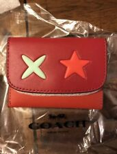 COACH Star Card Pouch In Glovetanned Leather NWT