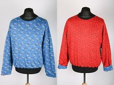 Awesome Reversible 70s Vintage Paisley Patterned Retro Sweatshirt | Womens M