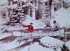 Canadian Mountie RCMP 2 men in canoe