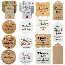 Thank You Gift Tags 300Pcs Kraft Paper For Rustic Wedding Favor Present Labels