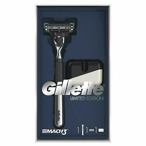Gillette Mach3 Razor Limited Edition With Chrome Handle Gift set FAST & FREE