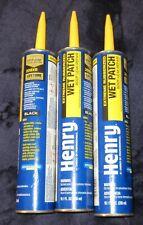 Lot Henry 10 Oz Black Repair Stop Roof Leak Severe Weather wet Patch rubberized