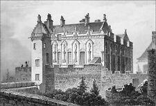 ÉCOSSE - FAÇADE du CHÂTEAU de STIRLING - Gravure du 19e siècle