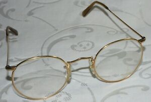 ANTIQUE 12K GOLD FILLED SPECTACLES GLASSES By ALGHA - 11.5 ARM WIDTH