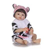 22''Reborn Full Body Silicone Baby Girl Doll Toddler Soft Vinyl Babies Dolls