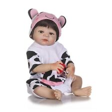Full Body Silicone Babies Dolls Reborn Girl Bebe Soft Vinyl Toddler 22'' Newborn