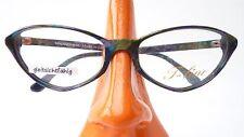Glasses Cat's Eye Coloured Green Frames Vintage Socket Fancy Size M