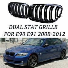 Gloss Black Front Bumper Kidney Grille For BMW E90 E91 328i 335i xDrive 2009-11