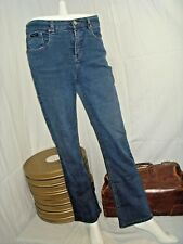 Women Ladies High Waist Jeans Stretch blue Denim Pants Sz8 30x28 Simon Chang