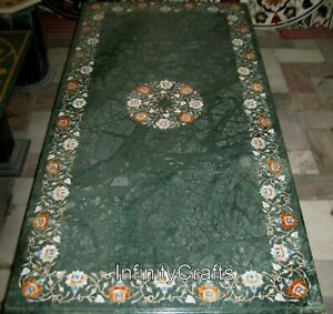 30 x 60 Inches Marble Dining Table Top with Pietra Dura Art Conference Table