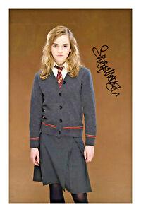 Emma Watson Hermione Granger Signed A4 Photo Print Harry Potter Autograph