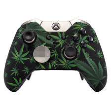 For Xbox One Elite Controller Faceplate Top Shell Soft Touch Green Weeds Leaves