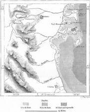 ERITREA. Massawa, sketch map c1885 old antique vintage plan chart