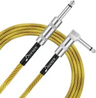 Guitar Cable 10/20ft Electric Instrument Bass Cable 1/4 Right Angle to Straight