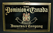 "Vintage ""The Dominion of Canada General Insurance Company"" Tin Sign Mint"