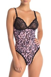 *NEW HANKY PANKY LEOPARD THONG BODYSUIT SIZE LARGE #9G8506