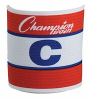New Champion Official Adjustable Soccer Captains Arm Band Adult Red White Blue