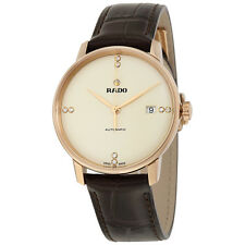 Rado Coupole Classic Automatic Champange Dial Black Leather Unisex Watch
