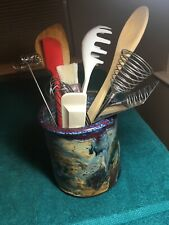 Ceramic Kitchen Tool Holder. Beautiful.  Tools not inclued.