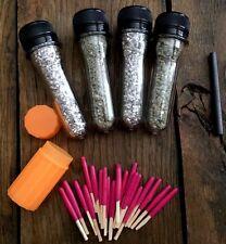 **Emergency Fire Starter Survival Kit**Mag Shavings& Rod/Insta-fire/h2o Matches!