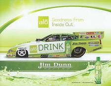 JEFF AREND 2014 alo DRINK NHRA Drag Racing Nitro Funny Car HANDOUT