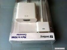 Sandberg 440-61 adaptadores para Apple iPhone o iPad 30pin a HDMI, nuevo, blanco