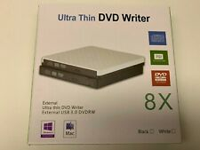 Thin Portable USB 3.0 Ultra External DVD-RW CD-RW Burner Writer Drive For PC MAC