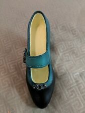 """Just The Right Shoe By Raine. """"Suffragette"""". Mini Shoe. Green and Black."""
