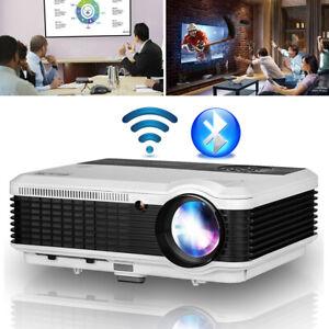LED 6000LMS WiFi BT Projector Full HD Home Cinema Big Screen for UEFA Euro 2020