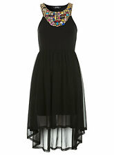 Stunning Miss Selfridge Petites Bright Beaded Evening Occasion Dress Size 8