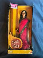 """Barbie Doll in India by Mattel 12"""" Doll in original box rd"""
