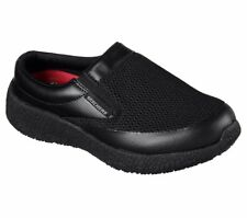 76599 Womens Skechers Work Burst Tifton Slip On Mesh Shoes Slip Resistant Black