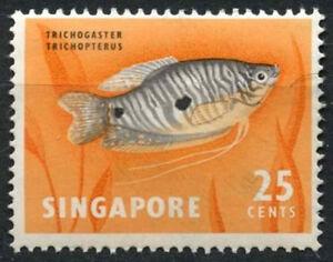 SIngapore 1962-6 SG#72, 25c Fish Definitive MNH #D18467