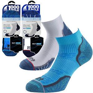 1000 Mile Breeze Lite 100% Blister Free Cool Comfort Mens Sports Fitness Socks