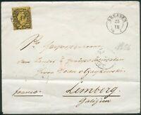 Sachsen Auslandsbrief Mi.-Nr.11 als EF Dresden-Krakau-Lemberg(Galizien) RARE