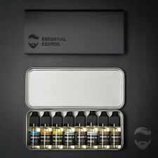 Beard Oil set 8 Beard oils Gift Tin Set, Beard Grooming Kit - Essential Beards
