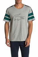 Lacoste Sleepwear Men's gray Big Logo Graphic Crew-Neck Short Sleeve T-Shirt