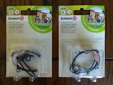 New Schleich 42126 Accessories - Equestrian Pony - Black Saddle & Bridle