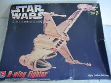 STAR WARS AMT MODEL B WING FIGHTER GOLD LIMITED EDITION 8780