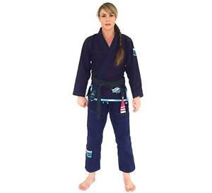 Fuji Suparaito Super Lightweight Womens Brazilian Jiu-Jitsu BJJ Gi - Navy Blue